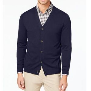 Tommy Hilfiger Navy Button Cardigan